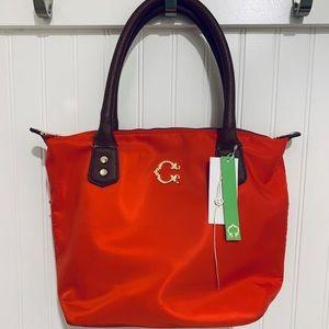 New C. Wonder red nylon tote bag purse